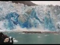 Getting Too Close to a Collapsing Glacier