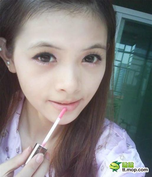 Expert Make-Up Application By Young Girl