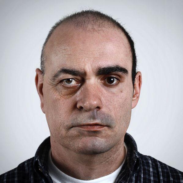 Creepy Split Face Family Portraits