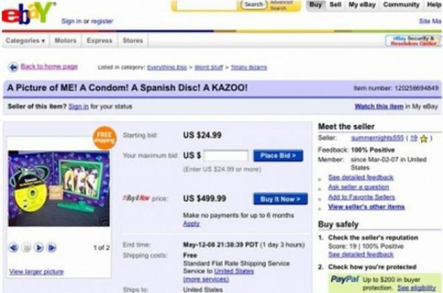 Funny Items for Sale on eBay