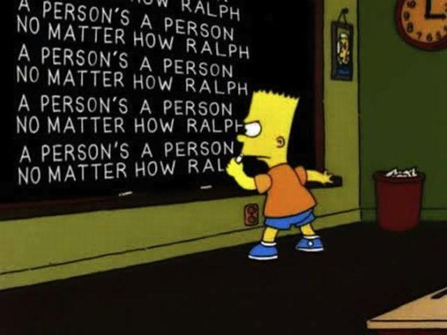 Bart Simpson at the Blackboard