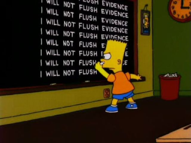 Bart Simpson at the Blackboard