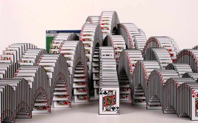 An Incredible Real Life Solitaire Screen