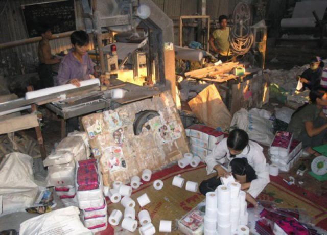 Small Chinese Toilet Paper Factory  24 Pics