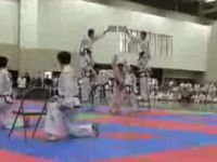 Awesome North Korean Taekwondo Team