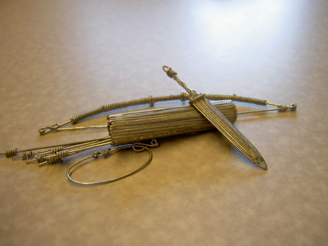 Detailed Weapons Made Out of Paperclips