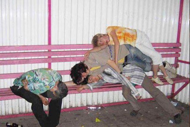 Hilarious Drunk Off Their Ass Photos