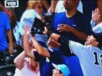 Woman Didn't Know You Don't Catch a Foul Ball with Your Face