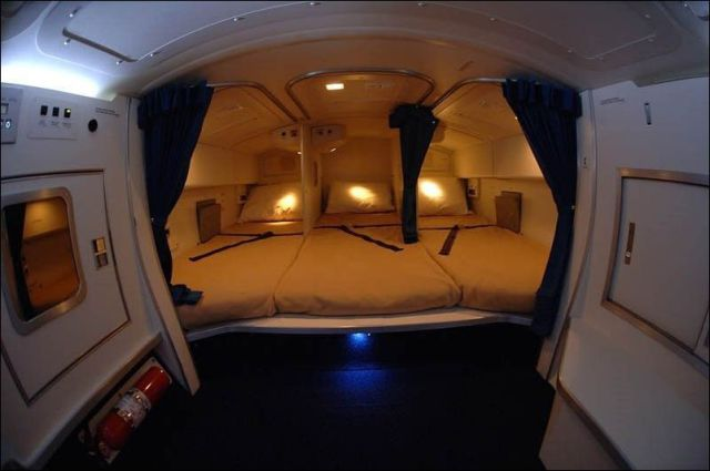 Awesome Airplane With Cozy Beds