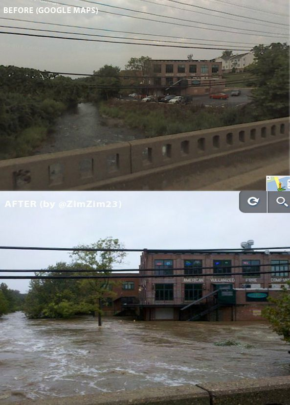 Destructive Hurricane Irene Before & After Photos