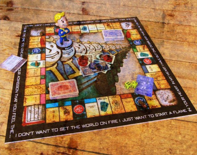 Incredible Fallout Monopoly Game