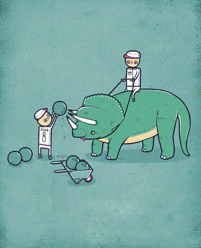 Strange But Funny Hand Drawn Illustrations