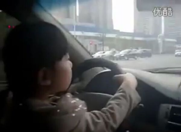 In China, Little Girls Drive Cars Too [VIDEO]