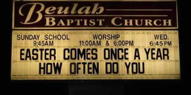 The Funniest of Church Signs