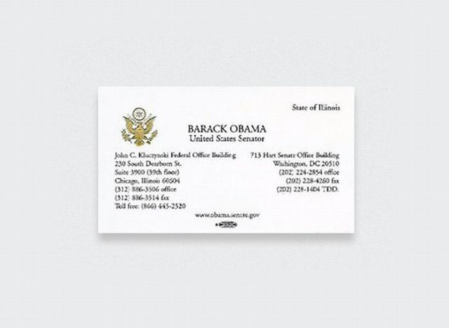 Business Cards of the Most Famous People