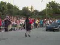 Man Does Front Flip over Speeding Car
