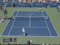 Brilliant 'Behind-the-Back' Tennis Shot