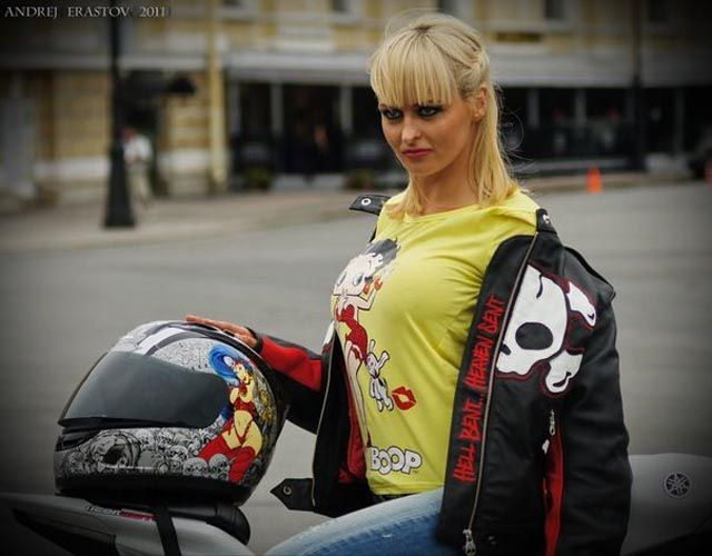 Emma, a Motorcycle Chick