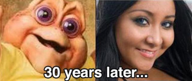 Hilarious Celebrity Aging Contrasts