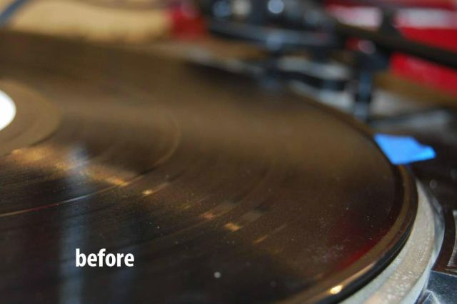 How to Clean Vinyl Disks Using Glue