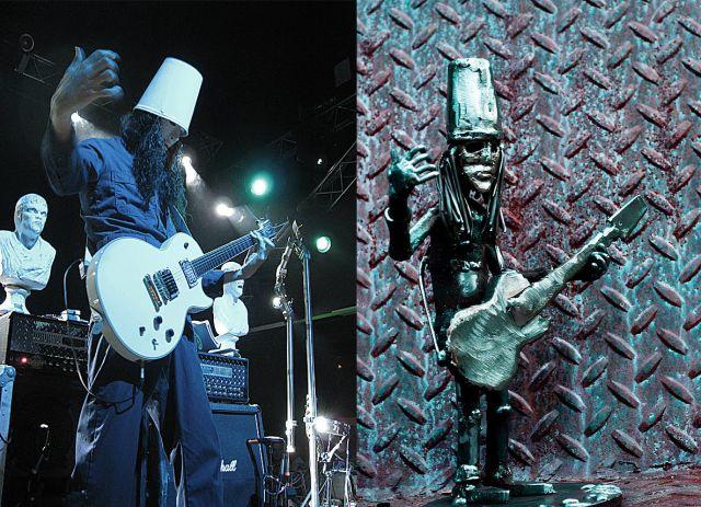People Vs. Their Metal Sculptures