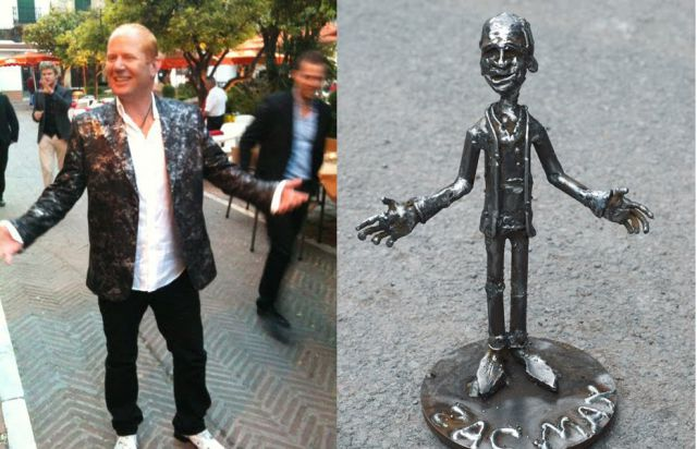 People Vs. Their Metal Sculptures