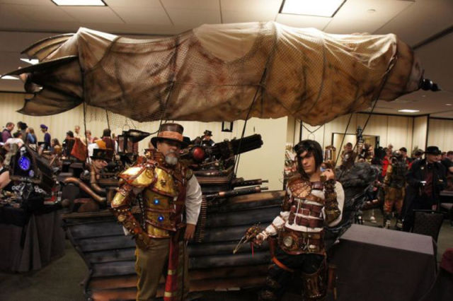 Awesome Steampunkified Leathery Costumes