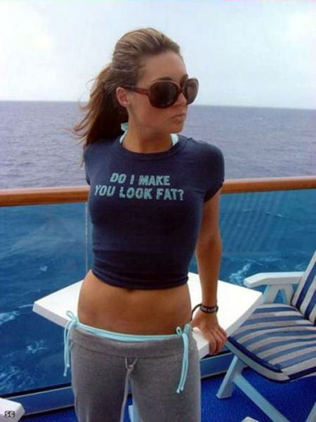 Babes in Hilarious Shirts