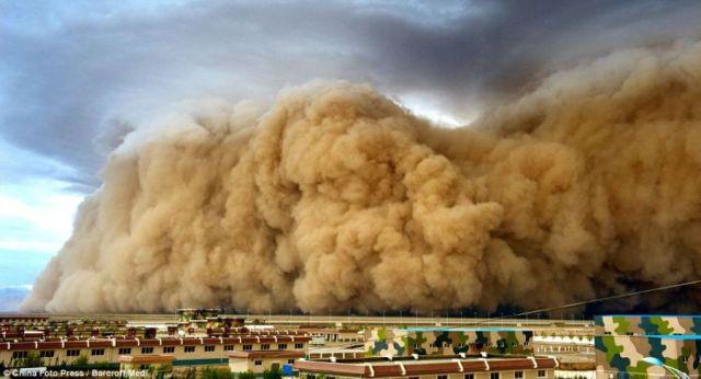 中国北京砂漠化 砂嵐