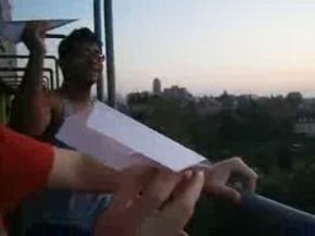 Awesome Paper Plane Moment. What Were the Odds?