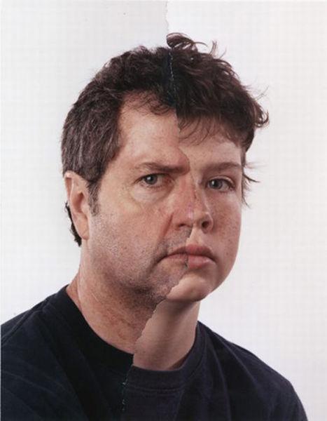 Creepy Split Face Family Portraits. Part 2