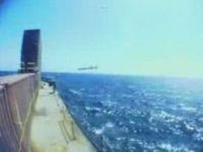 Incredible View of Aircraft Chasing Anti-Ship Missile Test