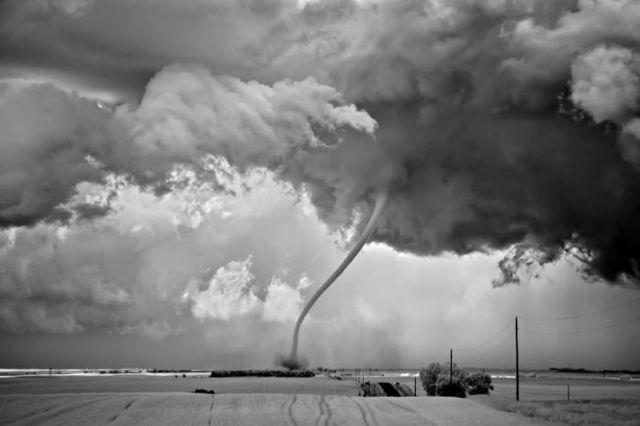 Stunning B&W Tornado Images