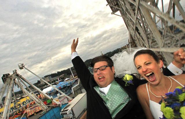 A Roller Coaster Wedding Ceremony