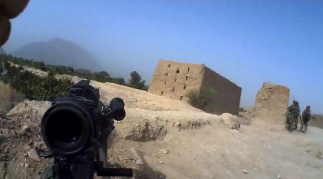 Afghanistan Seen from American Soldier's Helmet Cam [VIDEO]