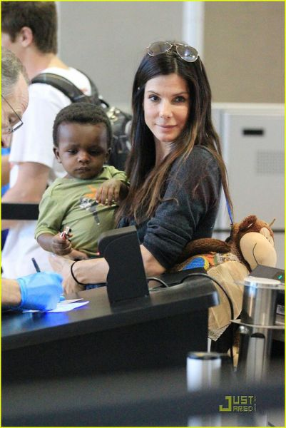 Sandra Bullock And Her Unsmiling Adopted Son