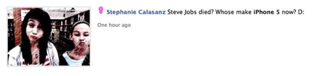 Unbelievably Stupid Facebook Responses to Steve Jobs