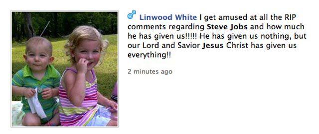 Unbelievably Stupid Facebook Responses to Steve Jobs