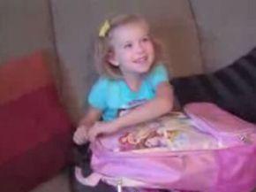 Little Girl's Cute Reaction to Disneyland Surprise