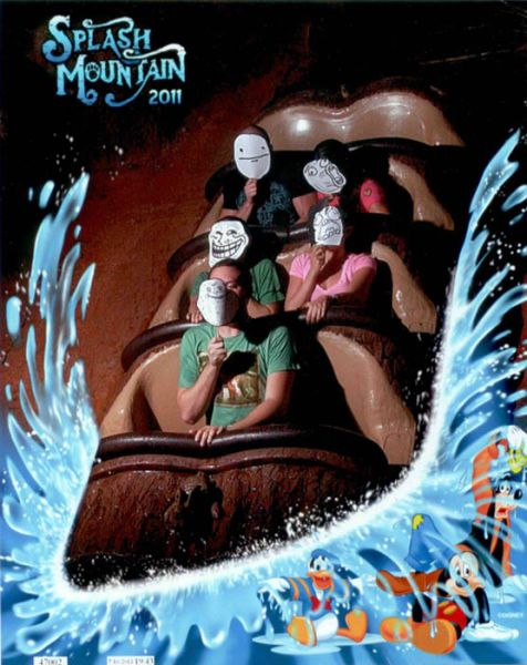 Epic Staged Splash Mountain Pictures