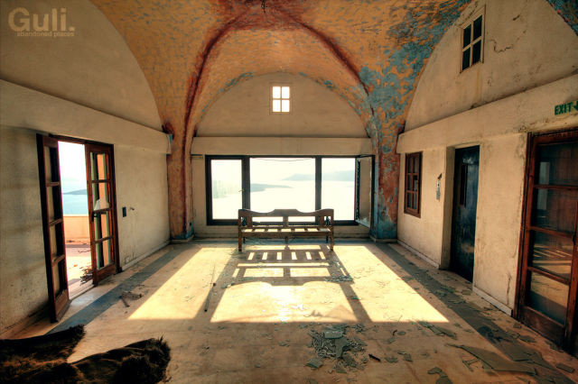 "Magic ""Magic sunset"" pool bar, Santorini, Thira, Greece"