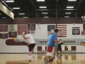 Epic Trick Shot Battle: Frisbee vs Basketball