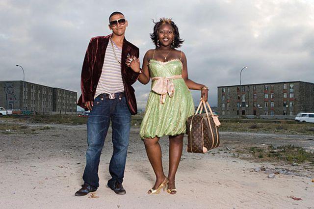 South African Slum Graduates Dress Up