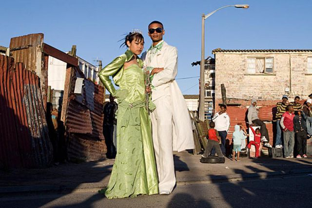 South African Slum Graduates Dress Up
