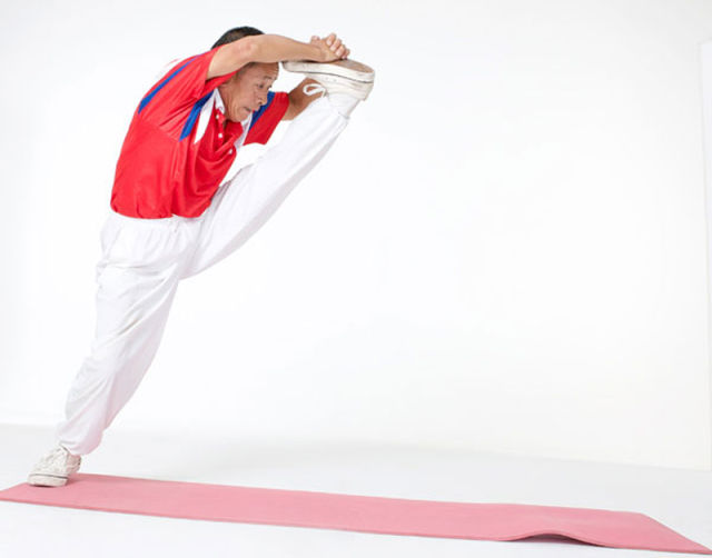 Impressively Flexible 67-Year-Old Man