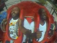 Funny Screaming Guy on Sling Shot Ride