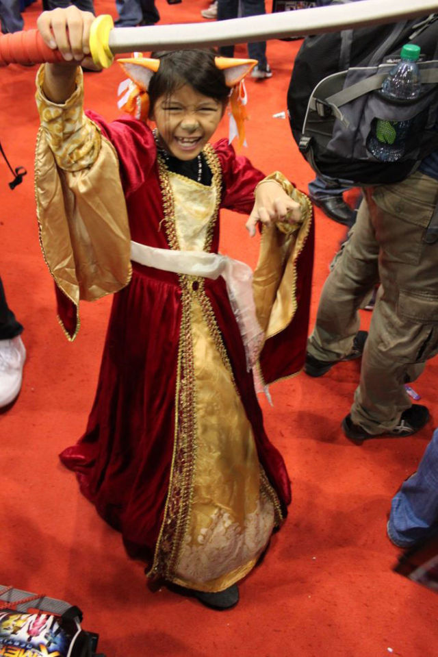 Young Cosplayers at Comic Con