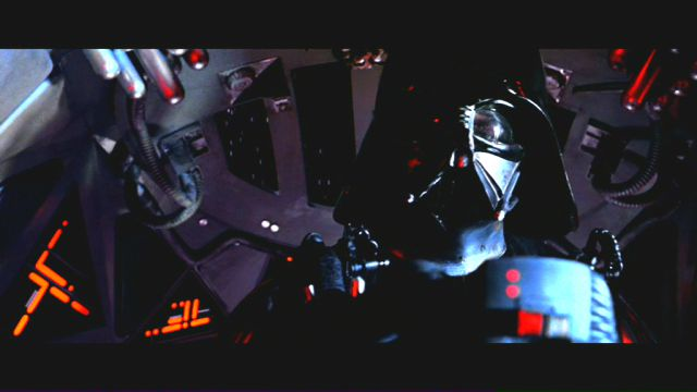 Interesting Star Wars Episode IV: A New Hope stills. Darth Vader see-through mask eyes