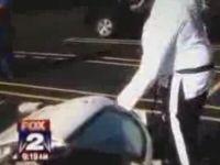 Car Window Smash Fail on Live TV