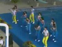 Cheerleading Near a Pool Isn't a Good Idea…
